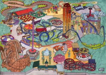 Amusement Park Map by Neotomi