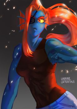 Undyne by snaleping