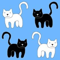 Black and white kitties by GhostLiger