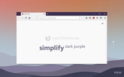 Simplify Dark Purple for Firefox (userChrome.css) by dpcdpc11