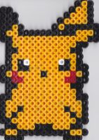 Perler Pikachu by christianna93