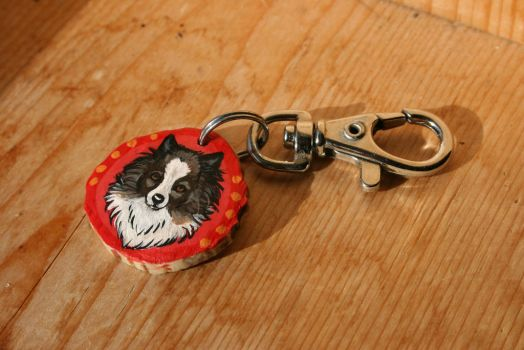 Commisioned antler keychain by VeronicaRosejones