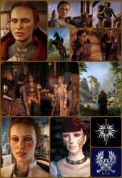 Inquisitor Reanna and Queen/ Warden Commander Enya by wavejumper60