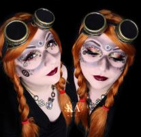 Steampunk Makeup w/ Tutorial by KatieAlves