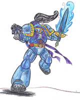 Colored In Space Marine by Blazbaros by Taiya001