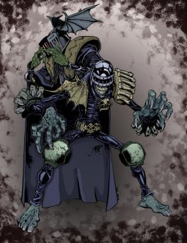 Dark Judges by Mike Bowden Inks by Steven Millage  by ChazWest