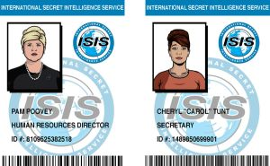 ISIS ID Badges: Pam and Cheryl by pinkfizzypops