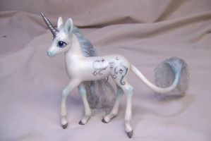 'Winter'  ooak unicorn pony by AmandaKathryn