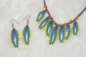 Handmade polymer clay set Feathers by EvrazhkaStudio