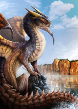 Dragon Photoshop Painting by franeres