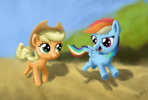 The Filly Race by Br0ny