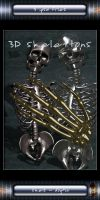 3D rendered skeletons - .psd by W-F-Stock