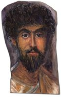 Mummy Portrait Of A Man - Reproduction in Oils by reversenorm