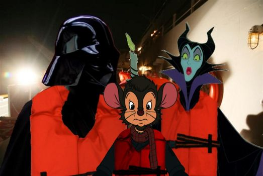 Darth Vader, Maleficent and Fievel by 15willywonka