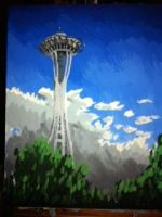 Spaceneedle by forgotten-light