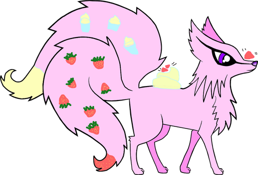 Strawberry Milkshake for 26blazingwolf by xWheatley
