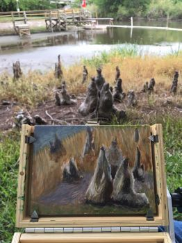 Plein Air Cypress Knees by lvadams
