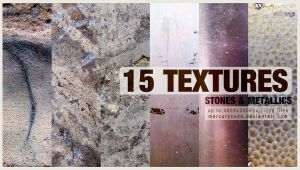 Texture pack 08: Stones and Metallics by mercurycode
