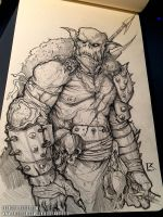 Orc Sketch by TentaclesandTeeth
