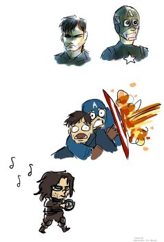 some buckys and steves by Tavoriel