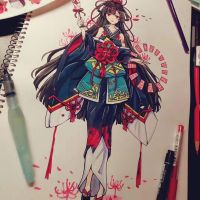Higanbana - Onmyoji Fan Art Contest Submission by Chiyoko176