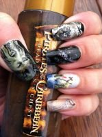 Pirates of the Caribbean Davy Jones nail art2 by amanda04