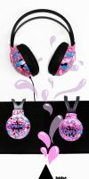 Candy headphones by Bobsmade