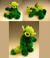 Green Red Panda Teddy by WhittyKitty
