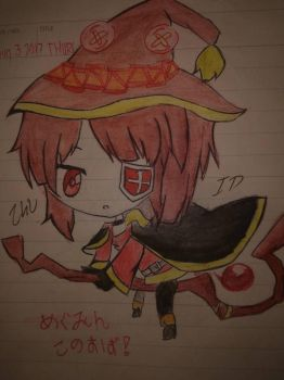 Megumin Konosuba  by InadequateDrawings