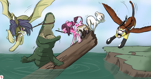 Croco Crossing by CJPossum
