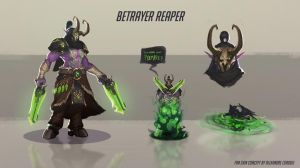 Demon hunter Reaper skin concept by Coadou