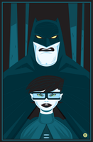 Batman And Carrie Kelley Vector by funky23