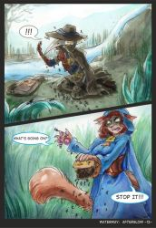 Waterway Afterglow pg. 12. by TiamatART