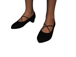 Pointy X-strap Pumps for Genesis 3 Female by amyaimei