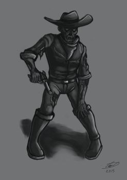 Weekly Challenge - Zombie Cowboy by laughinguy