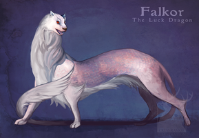 Falkor the luck dragon by PlasticBee