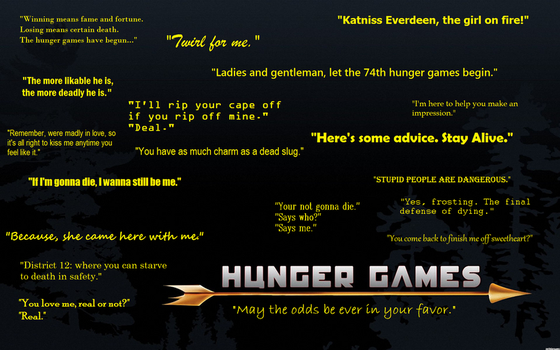 Hunger Games Quotes by Kawaiipandamelon