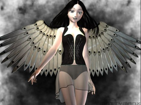 Slightly Darker Angel by mattymanx
