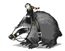 Portrait Of The Artist With Her War-Badger by ursulav