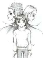 Natalie, Cecily and Ava, manga by bananacosmicgirl