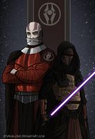 Revan and Malak - KOTOR I by EtyrnalOne