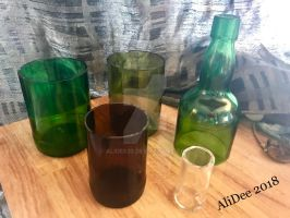 Recycled Bottle Cuttings by AliDee33