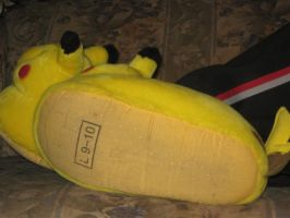 Me Wearing My Pikachu Slippers by Marquis2007