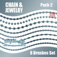 8 Chain and Jewelry Brushes Set - Pack 2 [HQ] by lungxueqiu