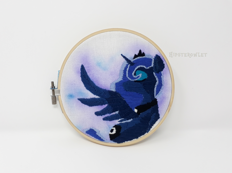 Handmade Princess Luna Embroidery by HipsterOwlet