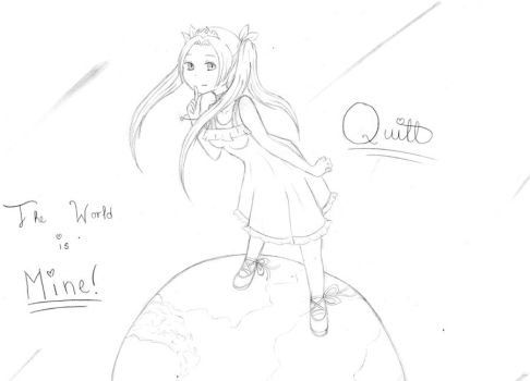 The World is Mine uncolored by SapphireShadowDragon