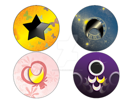 New Sailor Moon Buttons by christi-chan
