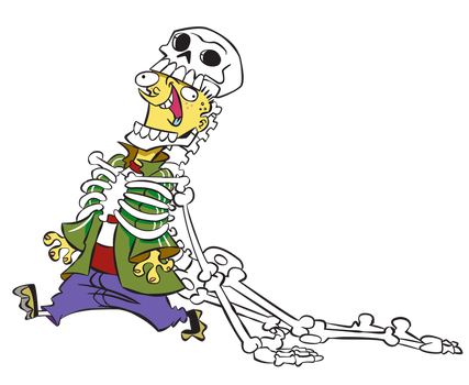 Ed, Edd n Eddy - Ed and the skeleton by Ali-Srn