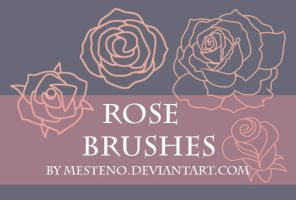 Rose Stamp Brushes by Mesteno