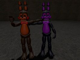 FNABB5 Extras Coco The Brown Bunny And His Sister by Beastthedog15